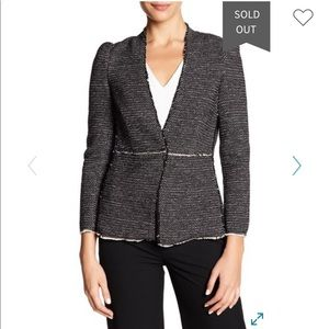 NWT Rebecca Taylor stretch tweed Jacket